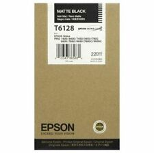 NEW Genuine Epson T6128 Matte Black Ink 7800 9800