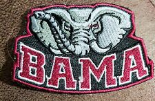 "Alabama Crimson Tide Logo Iron On Patch 3"" x 2"" Free Shipping"