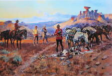"""Canadian Mountie RCMP  """"The Whisket Smugglers"""" by Charles M Russell"""