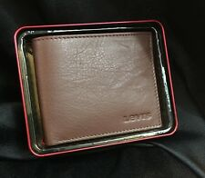 LEVI STRAUSS SIMPLE BI FOLD CARD WALLET BROWN