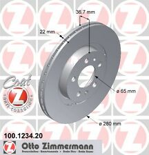 ZIMMERMANN 100.1234.20 FRONT BRAKE DISCS (COAT Z)