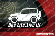 2x ONE LIFE LIVE IT Suzuki Vitara JX Hardtop 3-Door Stickers offroad 4x4
