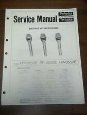 Technics Service Manual for the RP 3850E 3830E 3550E Microphone~Repair~Panasonic
