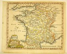 Carte de France vue par les anglais Map of France by the English XVIII Bretagne