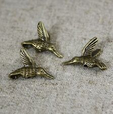 20 pcs-antique bronze zinc alliage perles colibri, oiseaux charms