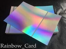 20 SHEETS - SILVER RAINBOW HOLOGRAPHIC A4 CRAFTING CARD 280GSM *** SECONDS ***