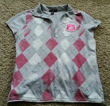 Beverly Hills Polo Club Petites Shirt PL petite large - gray/silver/pink/white