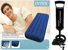 INTEX JR. TWIN CLASSIC SINGLE AIR BED WITH FREE INTEX HAND PUMP