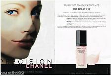 PUBLICITE ADVERTISING 105  2002  CHANEL  (2p)  cosmétiques PRECISION