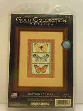 Dimensions Gold Collection Petites Butterfly Triplex Cross Stitch Kit 6914 NIP