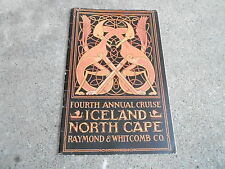 #MISC-3208 - 1924 RAYMOND & WHITCOMB cruise book ICELAND - NORTH CAPE view book