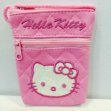 HELLO KITTY PHONE POUCH WALLET PINK - NEW - QUICK DELIVERY