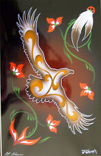"""Art Print Authentic Native American  """"Soaring Bird""""  11x14"""" matted New"""