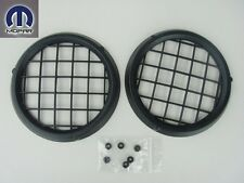 JEEP WRANGLER 1997-2004 FRONT BUMPER FOG LIGHT LAMP HOLE COVERS SET