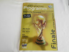 2006 WORLD CUP FINAL PROGRAMME GERMAN EDITION
