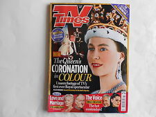 TV TIMES June 2013  THE QUEEN'S CORONATION IN COLOUR