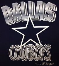 Dallas Cowboys Sweatshirt Large Unisex The Game NFL Sweater Navy Blue Vintage