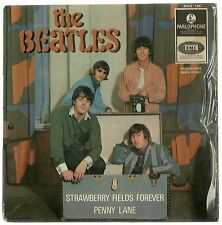 """THE BEATLES STRAWBERRY FIELDS FOREVER ORIG DIFF ISRAELI PS 7"""" EP 1ST Yellow Parl"""