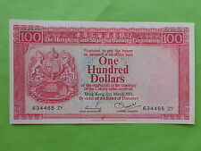 Hong Kong 100 Dollars 31st March 1981 (UNC)