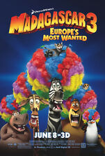 MOVIE POSTER~Madagascar 3 Europe's Most Wanted 2012 Double Sided D/S One Sheet~1