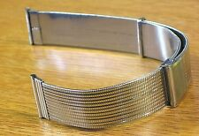 "Vintage Sliding Clasp Rare 19mm 1960's ""Wemo"" Buckle Watch Band Strap"