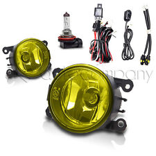 2008-2012 Ford Focus Fog Lights Front Driving Lamps w/Wiring Kit - Yellow