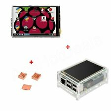 "3.5"" TFT LCD Touch Screen 320*480 Display + Case + Heatsink For Raspberry Pi 3"