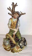 Capodimonte G. Cortese The Tired Hunter Scultore Sculpture Figurine Work of Art