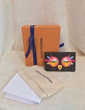 LOUIS VUITTON Monogram LOVELY BIRDS OWL Card Holder Wallet RARE + Receipt