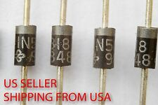 QTY (100)  1N5818 SCHOTTKY DIODE DO-204AL 1A NOS US Seller Free Shipping