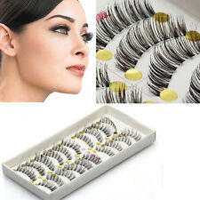 Maquillaje Para  Mujer 10 Pair Natural Cross Handmade Extension False Eyelashes