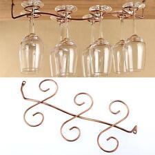 6 Wine Glass Rack Stemware Under Cabinet Holder Hanger Shelf Bar Kitchen Display