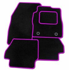 Peugeot (207) 2006 Onwards TAILORED CAR FLOOR MATS BLACK WITH PINK TRIM