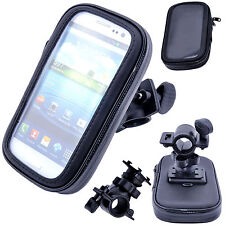 Universal Waterproof Bicycle Motor Bike Handle Bar Holder Case For S4 Mini i9190