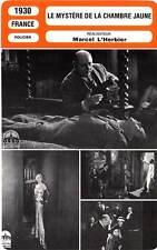FICHE CINEMA : LE MYSTERE DE LA CHAMBRE JAUNE - Toutain,Duflos,L'Herbier 1930