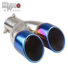 Universal Neo Chrome Car Rear Dual Exhaust Pipe Tail Muffler Tip (Fits: BMW)