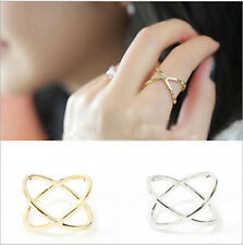 New Fashion Star Like Cross Hollow Vintage Index Finger Ring Gift High Quality