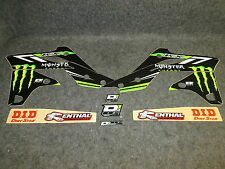 Kawasaki KXF250 2013-2016 D Cor Monster Energy graphics + plastics kit 10-20624