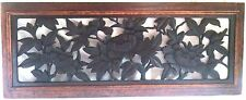 Antique c1900 Carved Walnut Floral Vent Cover Transom Mint Architectural Salvage
