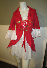 Lady Captain Pirate Swashbuckler Costume with Hat  Sassy Cosplay Size Small