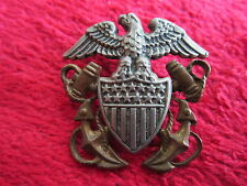 VINTAGE WWI WWII USN US NAVY CROSS ANCHOR INSIGNIA PIN
