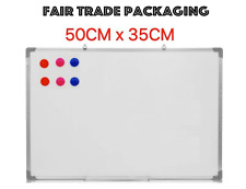 Small Magnetic Dry Wipe Whiteboard Office Drawing Memo Notice Board School 50x35