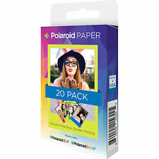 "POLAROID pellicole premium zink paper 2x3"" per SNAP/ZIP pack 20 BORDI COLORATI"