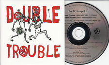 PUBLIC IMAGE LTD Double Trouble 2015 UK 2-track promo CD PIL John Lydon