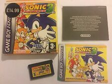 NINTENDO GAME BOY ADVANCE GBA SP GAME SONIC ADVANCE 3 / III / 3rd COMPLETE PAL