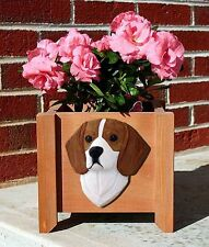 Beagle Planter Flower Pot Red