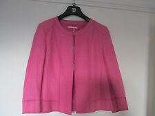 NEW,DESIGNER BY BASLER, PINK, LINED WOOL/SILK BOX JACKET. SIZE 18