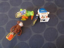 Ja-Ru Wind Up toys lot of 3 Bird Monkey Robot TESTED WORKS NEW WITH TAG
