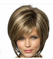 CHENSW35  this year charming style short brown mix blon hair wigs for women wig