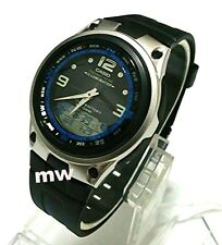 Casio AW-82-1A Moon Phase Dual Time 50M Fishing Gear Black Resin Men's Watch NEW